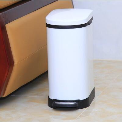不銹鋼垃圾桶腳踏家用衛生間客廳廚房 大號創意靜音