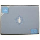 WEDGWOOD浪漫童話魔鏡公主羊毛蓋毯禮盒(粉藍)084620