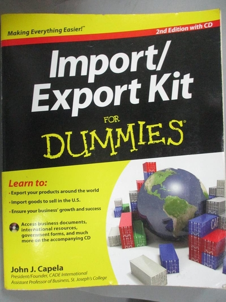 【書寶二手書T8/財經企管_YKP】Import/ Export Kit for Dummies_Capela, Joh