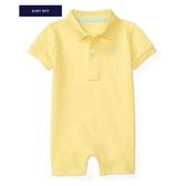 Polo Ralph Lauren polo杉短袖兔子裝 黃色   男寶寶連身衣(嬰幼兒/baby/新生兒)