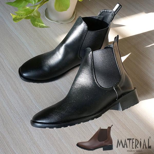 短靴 小方頭側U彈性帶短靴 MA女鞋 T6190