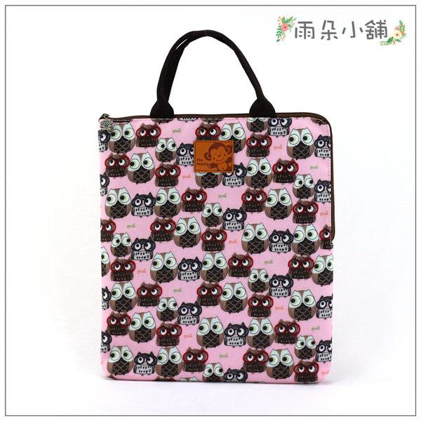 電腦包 包包 防水包 雨朵小舖M287-342 13吋筆電包(直式)-粉戴眼鏡貓頭鷹03248 funbaobao