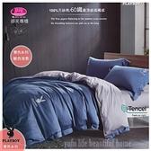 PLAY BOY【魅色夜影】雙色搭配/100%天絲棉/300織/四件套『兩用被套+床包』5*6.2尺