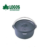 【LOGOS 日本 SFJAPANA免馴荷蘭鍋10吋】7602010600/露營/野炊/鑄鐵鍋