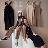 MIUSTAR 肩帶可調燈芯絨連身吊帶裙(共5色)【NJ2821】預購