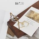 簡約方形框框金屬耳環-BAi白媽媽【316034】