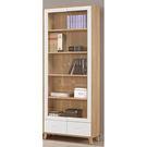 【森可家居】羅德尼2.6尺下抽書櫥 8CM887-1 書櫃 玻璃 無印北歐風
