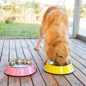 狗狗烤漆不銹鋼碗狗食盆狗碗防滑大號大型犬金毛拉布拉多寵物用品 尾牙 限時鉅惠