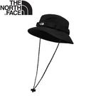 【The North Face 抗UV透氣排汗漁夫帽《黑》】3VWA/防曬帽/遮陽帽/登山/露營