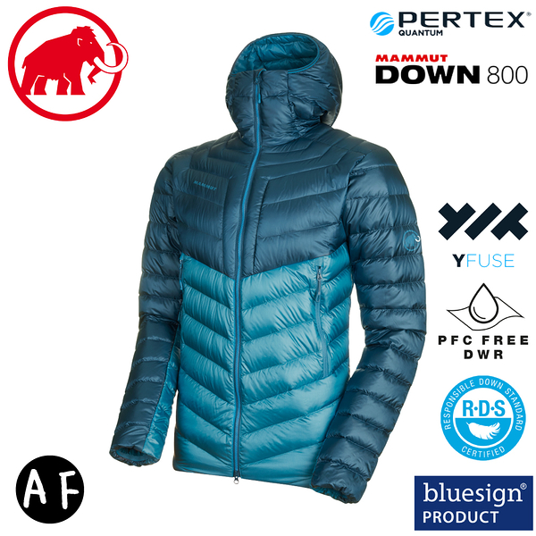 【MAMMUT 男 Broad Peak IN AF 連帽羽絨外套《藍寶石/水鴨藍》】1013-01140/夾克/輕量/鵝絨
