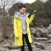 秋冬季戶外沖鋒衣女防風雨寬鬆中長款 外套