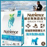 *WANG*【免運】美國Nutrience紐崔斯《無穀養生犬--六種魚多種鮮魚》10公斤