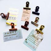【雙11折300】復古青銅夾辦公擺拍收納票據試卷燕尾夾封