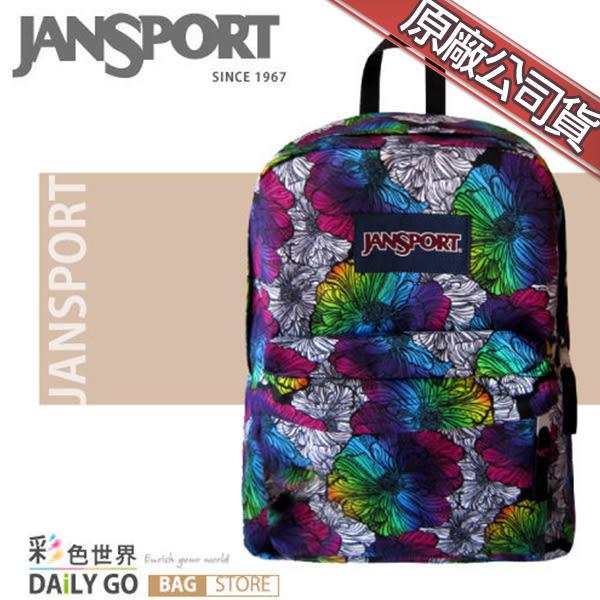 JANSPORT後背包包帆布包大容量JS-43501-ZF4漸層染花