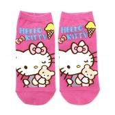 《7+1童鞋》Hello Kitty 冰淇淋 熊熊 正版授權 童襪 直版襪 22-26 公分 KTA6 粉色