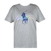 【南紡購物中心】Ralph Lauren 水彩簽字大馬圓領短袖T恤-灰