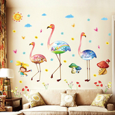 新款壁貼 紅鶴 居家裝飾牆壁貼紙《YV8025》HappyLife