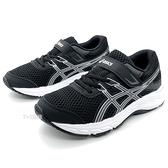 《7+1童鞋》中童 ASICS亞瑟士 CONTEND 6 PS 輕量 運動鞋 機能鞋 5273 黑色
