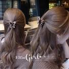 【QDJB6510】魔衣子-蝴蝶造型鑲鑽邊髮夾