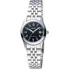 ORIENT 東方錶 優雅數字石英女錶-黑x銀/26mm WJFSZ46006B