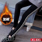 秋冬運動風雙線加絨內搭褲 XL-5XL O-ker歐珂兒 158032-C