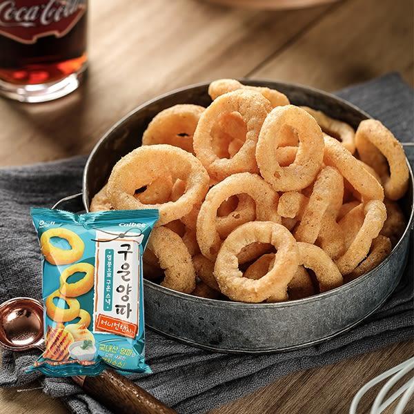 韓國 海太 HAITAI Calbee 烤洋蔥圈餅乾(奶焗洋蔥風味)70g【庫奇小舖】