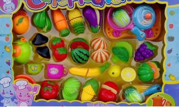 *粉粉寶貝玩具*蔬菜水果切切樂 ~廚房烹飪豪華全配禮盒~家家酒遊戲必備款