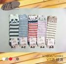 【YT店】可愛俏皮動物表情與耳朵圖案襪子/短襪/直版襪/少女襪(D121)