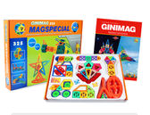 GINIMAG 325片 親子同樂 磁性建構片 積木 益智玩具 磁鐵玩具 (Magformers相容)贈收納箱