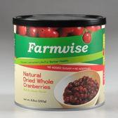 現折再買6送6 清淨生活 農場智慧 蔓越莓乾(整顆) 250g/罐 團購特惠