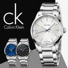 CK手錶專賣店 K5A31146 白 男錶 大錶徑 石英  弧形強化玻璃鏡面 不鏽鋼錶殼錶帶
