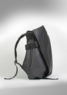 【cote&ciel】ISAR COATED CANVAS AND LEATHER Black No.28331塗層帆布後背包