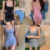 吊帶裙修身緊身性感包臀連身裙女夏季吊帶氣質短裙2020新款法式小眾裙子 雙11 伊蘿