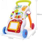 跨境英文學步車多功能寶寶手推車助步車嬰兒防側翻學走路兒童