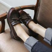 牛津鞋/紳士鞋 韓國軟妹小皮鞋女粗跟chic單鞋女平底復古英倫風女鞋牛津鞋 韓先生