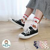 【正韓直送】韓國襪子 外圈毛絨Q版動物中筒襪 水果 熊熊 兔子 毛絨襪 長襪 哈囉喬伊 A293
