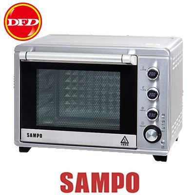 SAMPO 聲寶 KZ-TA38F 油切旋風電烤箱 38L 360度自動旋轉燒烤 爐內照明燈 公司貨 KZTA38F