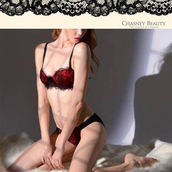 Chasney Beauty-情定巴黎S三角褲(黑紅)