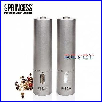 【歐風家電館】 荷蘭公主 PRINCESS 不鏽鋼電動研磨椒鹽罐 (2入裝) 493000