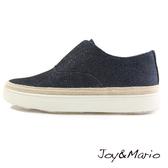 【Joy&Mario】素面絲光網布簡約厚底休閒鞋 - 83007W NAVY