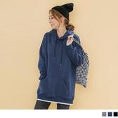 《KS0647》韓系抽繩連帽落肩純色簡約刷毛保暖運動上衣 OrangeBear
