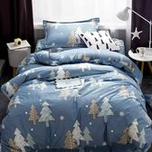 舒柔綿 超質感 台灣製 《水杉之戀》 單人薄床包升級雙人被套3件組
