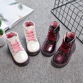 女童靴子秋季中小童單靴寶寶短靴馬丁靴公主兒童鞋潮