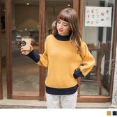 《FA1920》小拋袖配色粗針織毛衣/上衣 OrangeBear