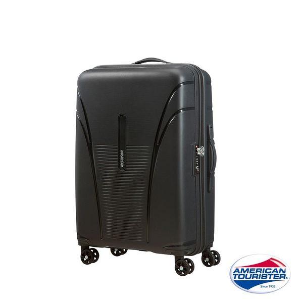 AT美國旅行者 20吋Skytracer飛機輪硬殼嵌合式TSA登機箱(暗灰黑)