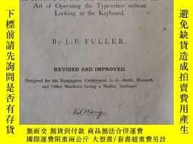 二手書博民逛書店The罕見touch writer: A text-book f