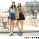 《BA6238-》居家時尚。夏日零著感多色雪紡高腰傘襬短褲 OB嚴選