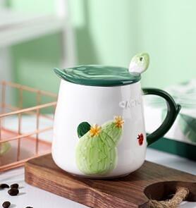 早餐杯 創意個性陶瓷馬克杯帶蓋勺子家用潮流辦公室女咖啡早餐水杯子可愛【快速出貨八折搶購】