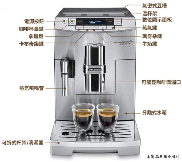 【歐風家電館】迪朗奇 Delonghi 臻品型 義式全自動咖啡機 ECAM 28.465.M (免費安裝教學)