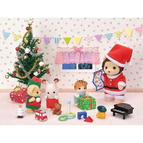 森林家族 獅子先生與寶寶聖誕雪橇組_EP14598
